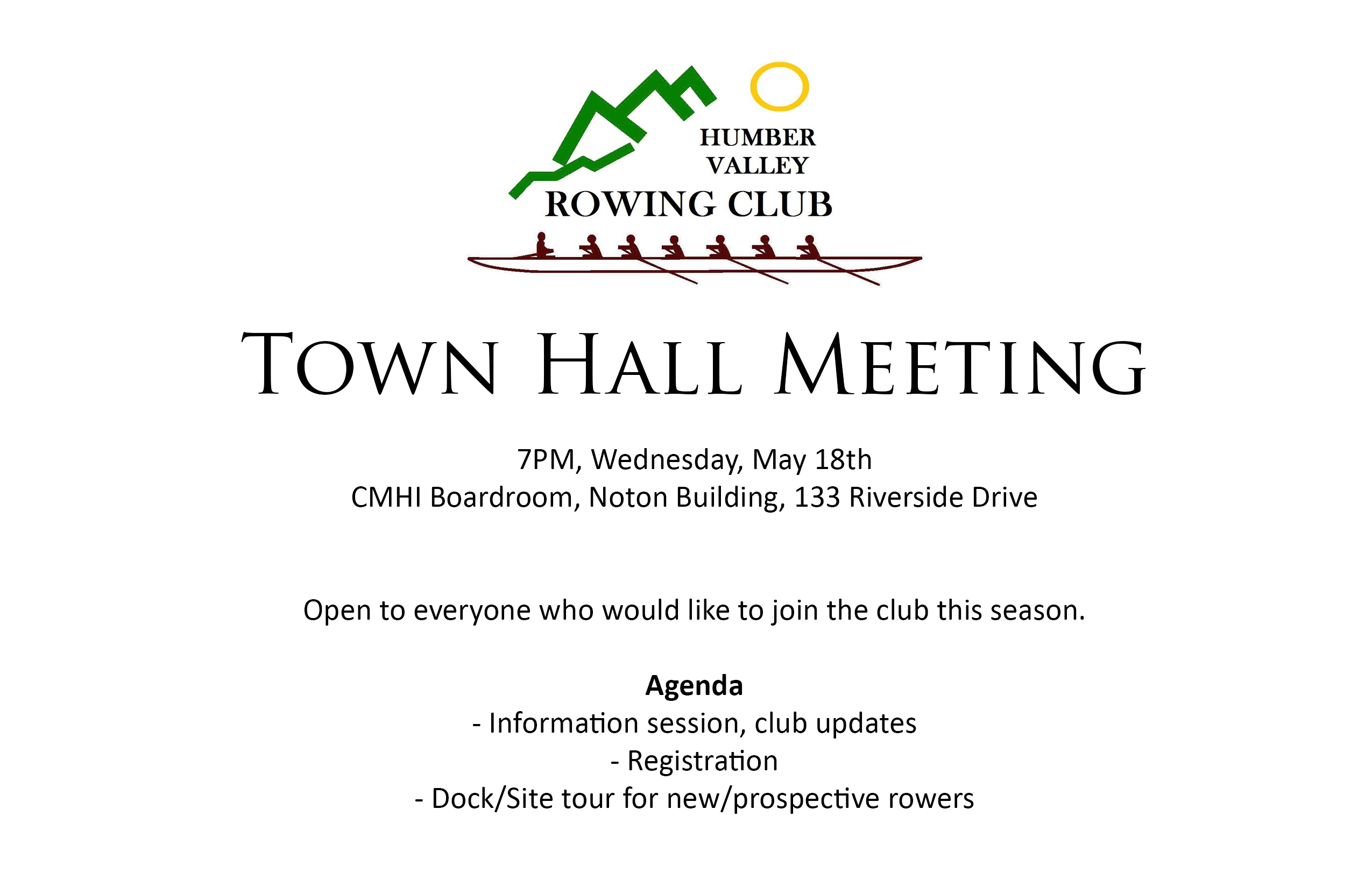 Town Hall Meeting | Humber Valley Rowing Club